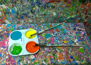 Paint for splattering | by Ruth and Dave
