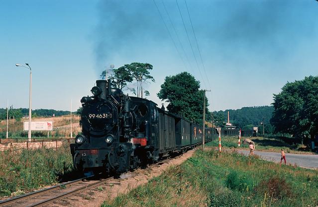 DR 99 4631-0 in Binz Ost, Rügen, DDR, 1976.
