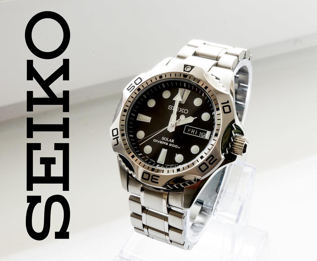 SEIKO solar diver   Divers' 200M - ISO diver with solar V158…   WERK