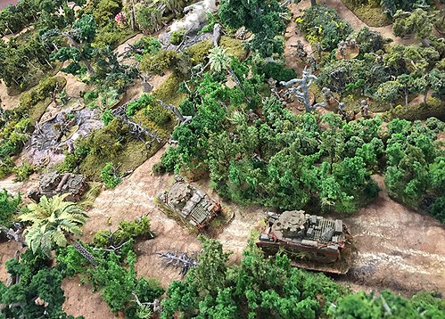 Aussie infantry protecting the tanks' flanks | by mhluther