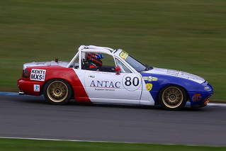 Mazda MX-5 1600cc - Anthony Hutchins / Antac Support Services - BRSCC Mazda MX-5 Championship - Donington Park 2015