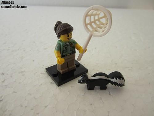 Lego Minifigures S15 la responsable du contrôle des animaux
