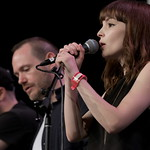 Fri, 18/03/2016 - 1:05pm - CHVRCHES Live at SXSW Day stage powered by VuHaus, 03.18.2016 Photographer: Sarah Burns