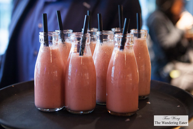 Strawberry smoothies to welcome