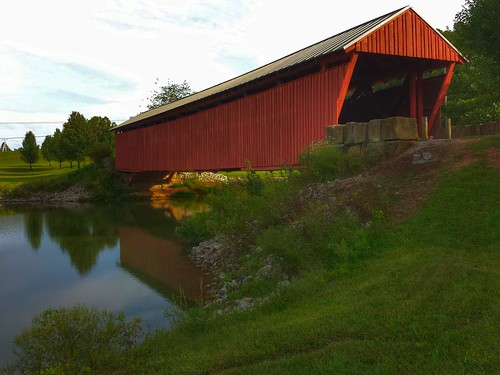 Mud River Covered Bridge- Milton WV (5) | by kevystew