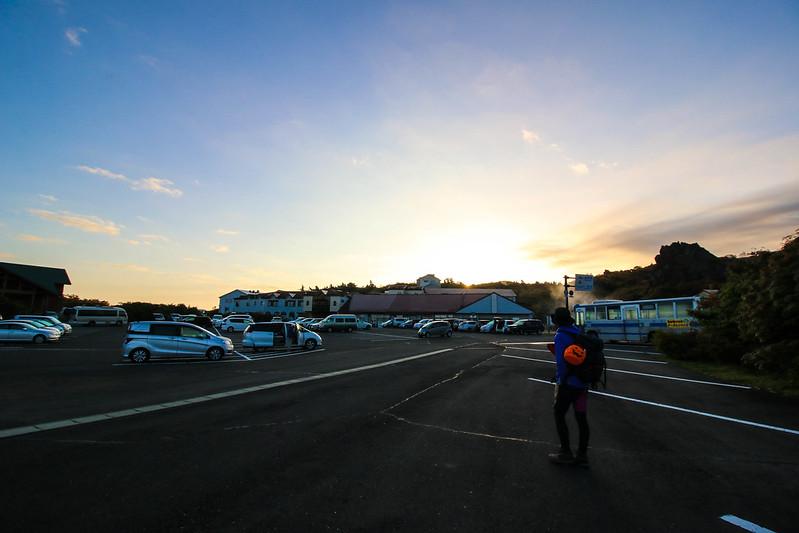 須川温泉 駐車場