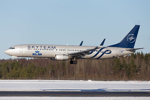 winter sweden landing klm clearsky arlanda b737 royaldutchairlines skyteam b737900 phbxo boeing737900 runway26