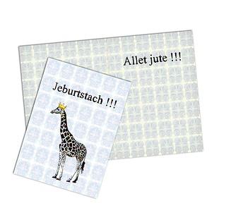 Klappkarte Jeburtstach  -  III