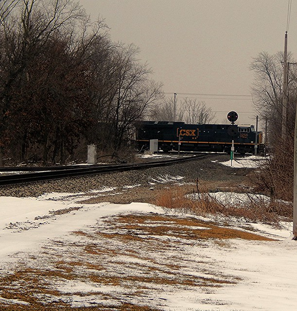 CSX crossing the Marion Branch at Milford Indiana