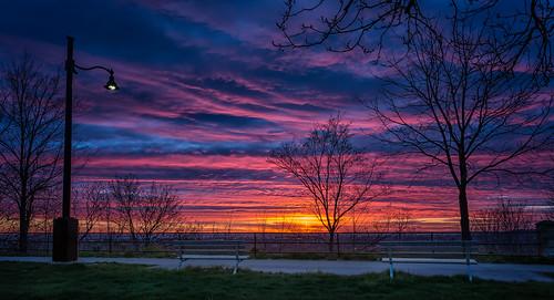 ca sky sun ontario canada colour sunrise bench hamilton canon6d img0061e