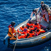 First Rescue operation for ESPS  Numancia - Op. Sophia EUNAVFOR MED