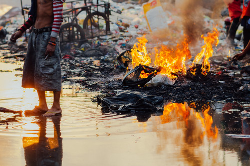 Trash Fire, Smokey Mountain, Manila Philippines | by AdamCohn