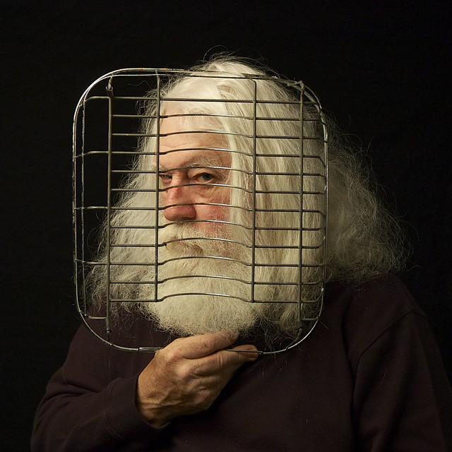 Self Portrait with Dish Rack.