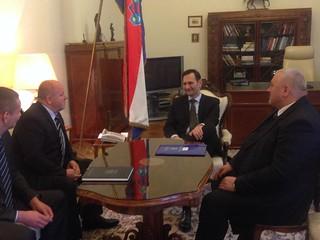 Ministar Kovač s dopredsjednikom RS Jerkovićem, ministrom Čordašem i savjetnikom Zeko | by Croatian Ministry of Foreign and European Affairs