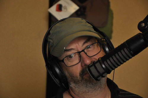 Ron Phillips on the air. Photo by Leona Strassberg Steiner
