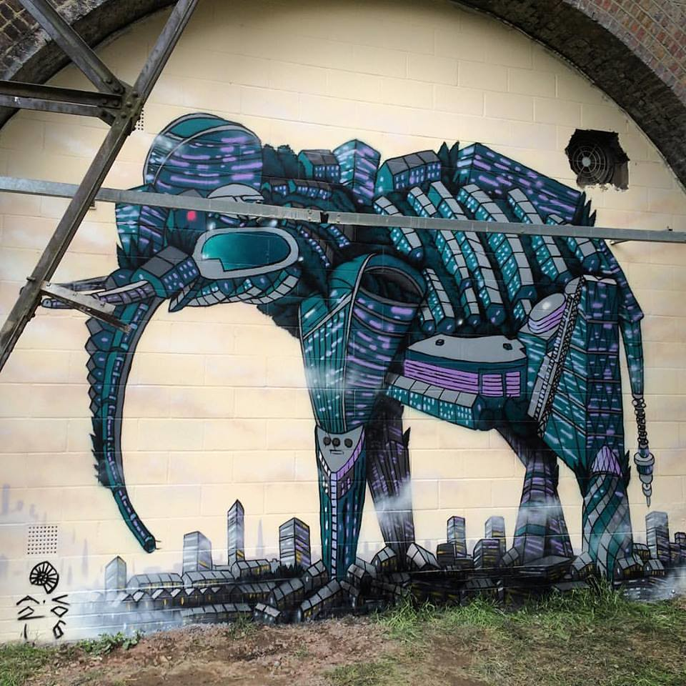 Asian Elephant Asian Elephant Painted In London Over The W Flickr