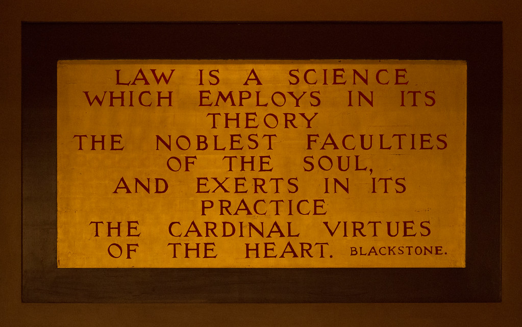 Minnesota State Capitol Blackstone Law Quote | Law is a scie… | Flickr