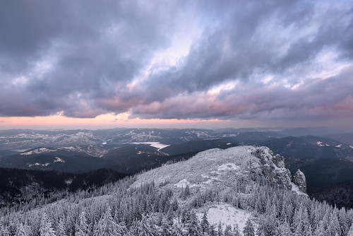 winter sunset sky cliff cloud white mountain snow cold nature clouds forest landscape twilight nikon scenery europe view natural outdoor romania bluehour winterscape massif neamt 1635mm ceahlau d810 outstandingromanianphotographers