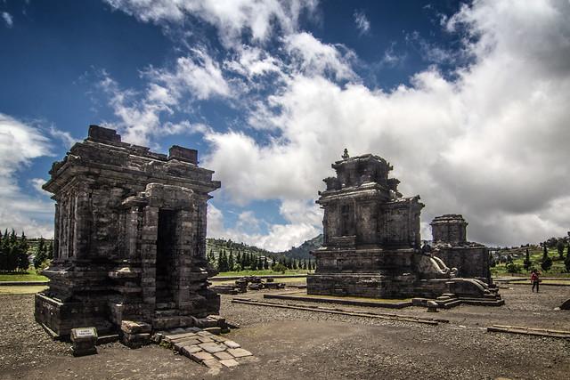 Arjuna temple, Dieng plateau, Indonesia