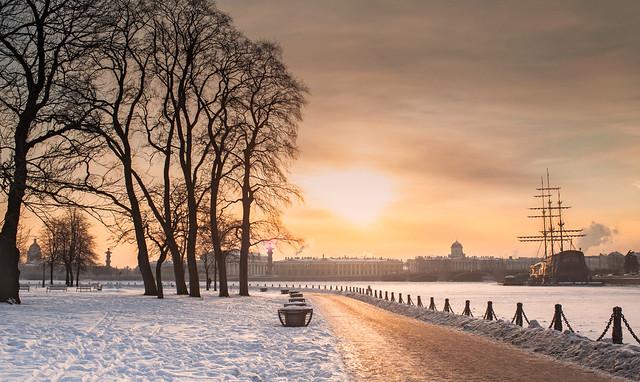 Frosty sunset.