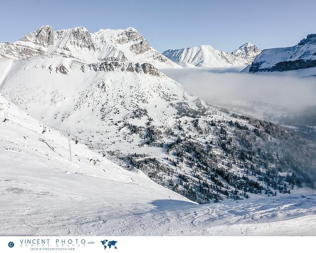 Rocky Mountains at the Lake Louise Ski Resort in Alberta, Canada