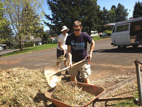 Outgrowing Hunger Community Garden_Shoveling 1 | by ClimateTrust