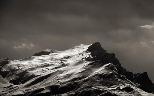 winter blackandwhite bw mountain snow ice landscape mono noiretblanc d800