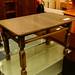 Dark wood low rectangular table
