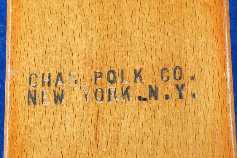 RD14950 Vintage RARE CHAS. POLK CO Advertising Brush New York, N.Y. DSC07325