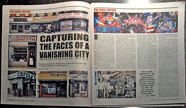 """""""BURNING NEW YORK"""" & """"COUNTER/CULTURE:The Disappearing Face of New York City's Storefronts"""" in the Jan. 3rd 2007 New York Press"""