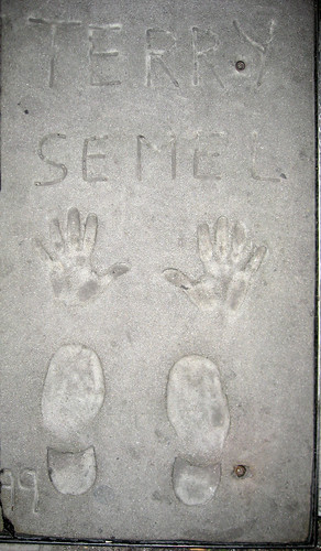 Terry Semel's handprints   by ajayss