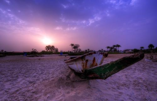 africa trees beach sunrise canon eos 350d boat sand gambia blake hdr photomatix h2oalchemist hdrmeetsorton senagambia