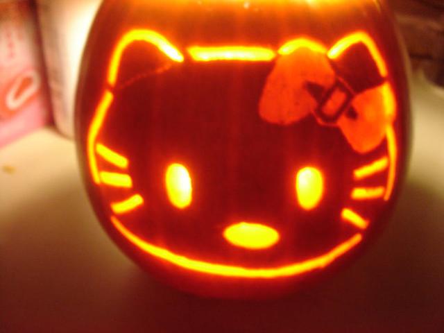 hello kitty halloween pumpkin hello kitty pumpkin i carved flickr rh flickr com hello kitty pumpkin painting hello kitty pumpkin template