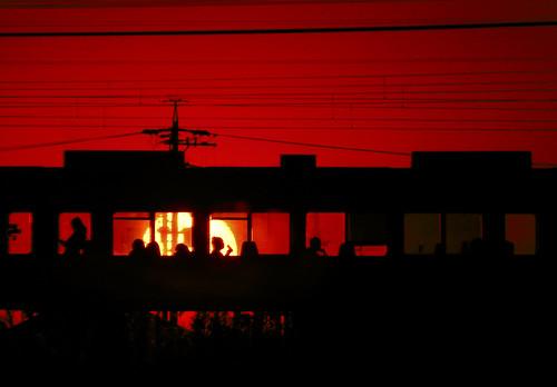 sunset silhouette 夕暮れ