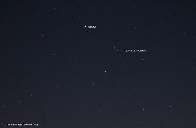 Arcturus & Comet C/2013 US10 Catalina 2:35am 31/12/15