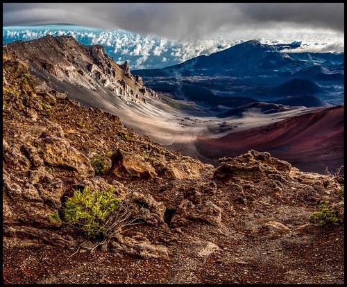 panorama landscape volcano hawaii us unitedstates pano crater kula haleakalā martinsmith haleakula haleakalānationalpark volcaniccones 2imagepanorama nikond750 ©martinsmith maui2015