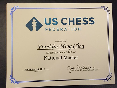 National Master certificate | by FranklinChen