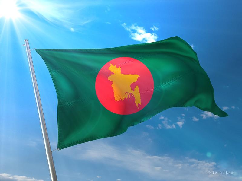 Photorealistic Flag of Bangladesh (1971)