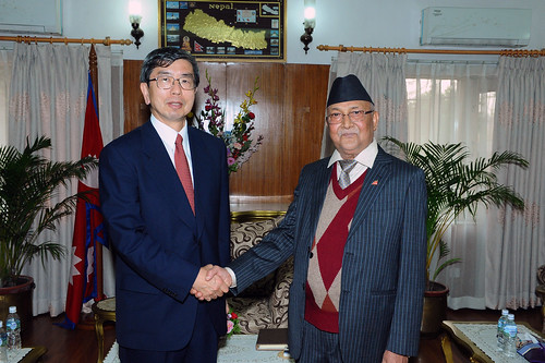 President Nakao meets Nepal Prime Minister | by Asian Development Bank President