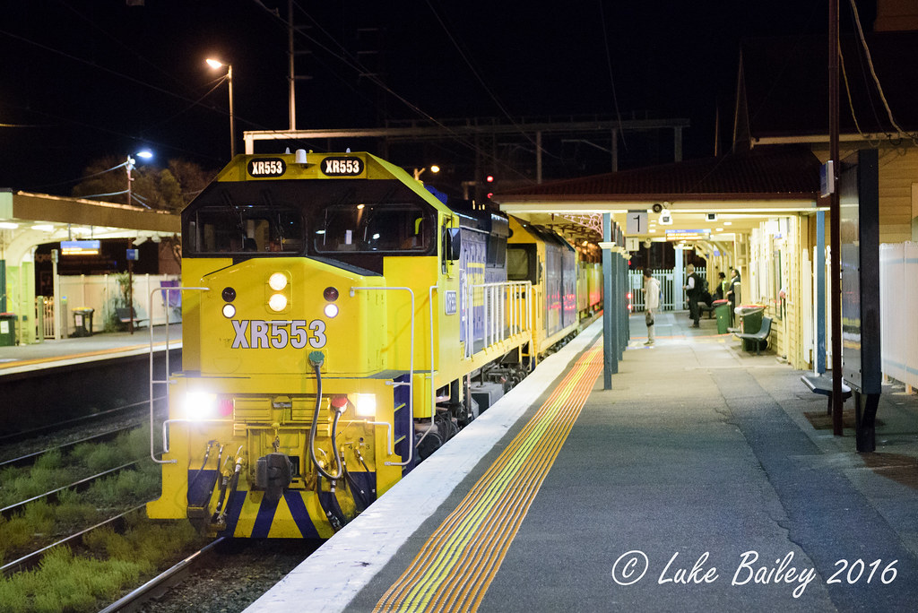 XR553-G541 with #9552 up Long Island goods at Mordialloc by Luke's Rail Gallery