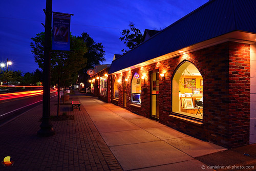 blue light sky ny art colors shop photography lights town store buffalo gallery village dusk small hamburg picture business your hour frame peek local walls framing decor tails westernnewyork wny matted westernny readytohang danielnovakphoto pywwny etbtsy