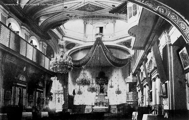 Inside view of Recoletos Church, Intramuros, Manila, Philippines, 1905