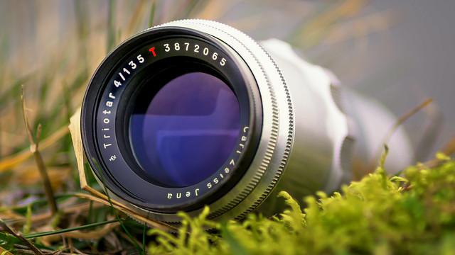 Carl Zeiss Jena Triotar 135mm ƒ/4 preset red T 1Q