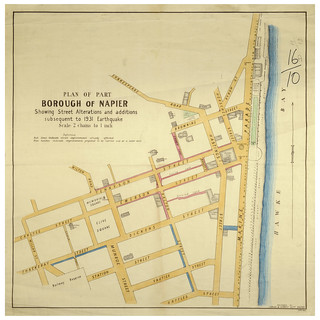 1931 Hawkes Bay Earthquake - Borough of Napier, showing Street Alterations and Additions