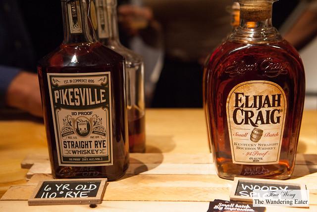 Pikesville Straight Rye Whiskey and Elijah Craig Small Batch