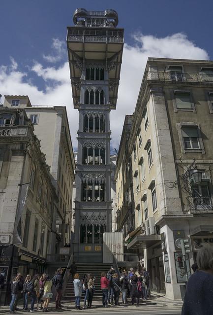 The Santa Justa Lift, Lisbon, Portugal