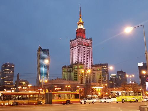 Kulturpalatset mfl by night