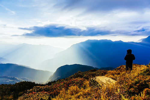 sunrise 合歡山 日出 耶穌光 hehuanshan 玉山杜鵑 石門山 mthehuan 高山杜鵑 雲隙光