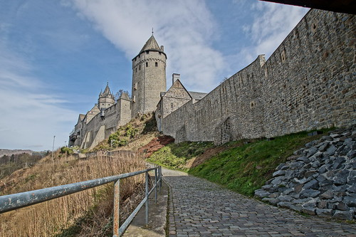 castle wall germany deutschland path bluesky burg altena