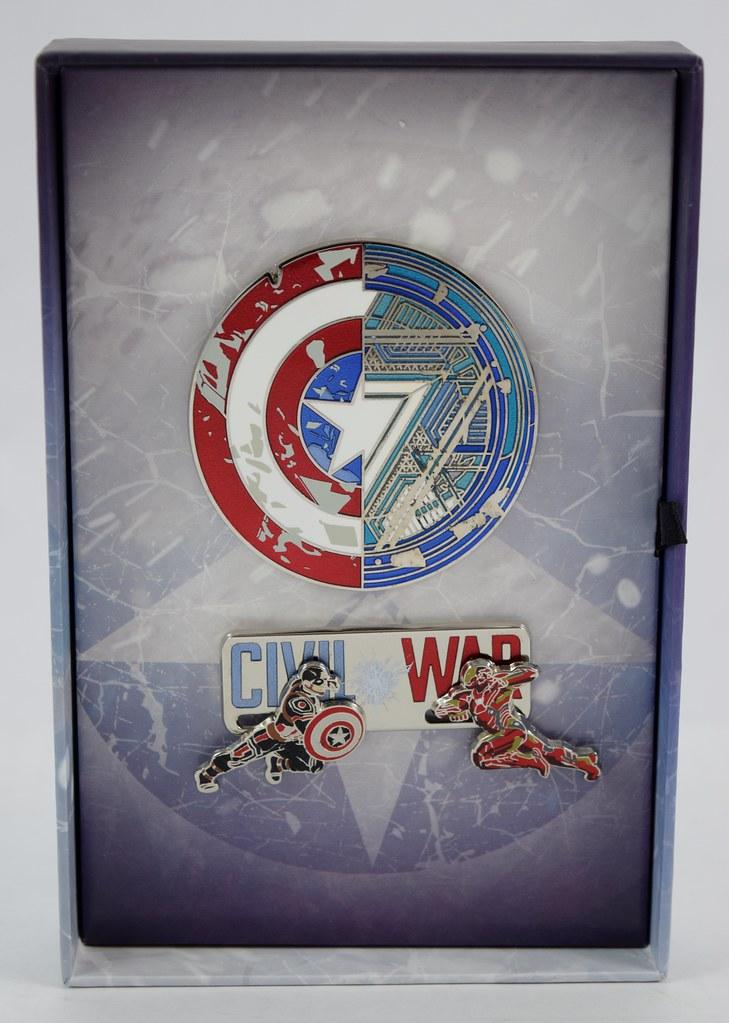 Captain America: Civil War LE Pin Set - Disney Store Purch